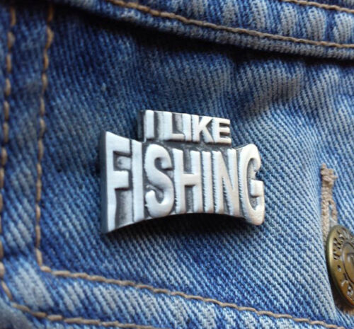 I Like Fishing Pewter Pin Badge