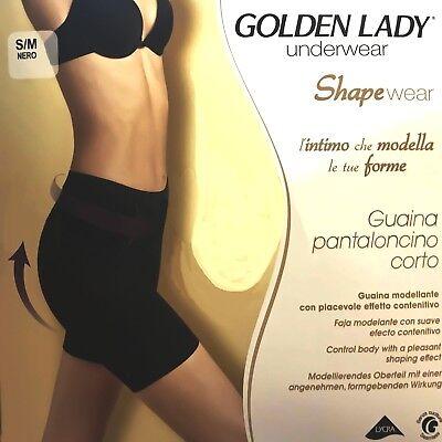 Creativo Guaina Gamba A Pantaloncino Short Contenitivo Shapewear Golden Lady O068in