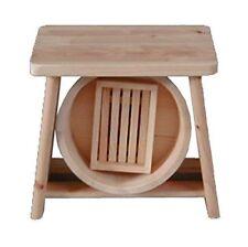 Hinoki Cypress Onsen Bath Set Wood Bath Stool Chair Sope Box u0026 OKE Wooden Tub  sc 1 st  eBay & Hinoki Wood Japanese Bath Stool - Onsen Style Shower Sauna Seat ... islam-shia.org