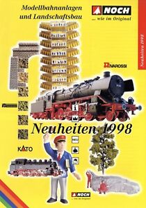 Noch-Neuheiten-Katalog-1998-Modellbahnanlagen-Landschaftsbau-brochure-model-rail
