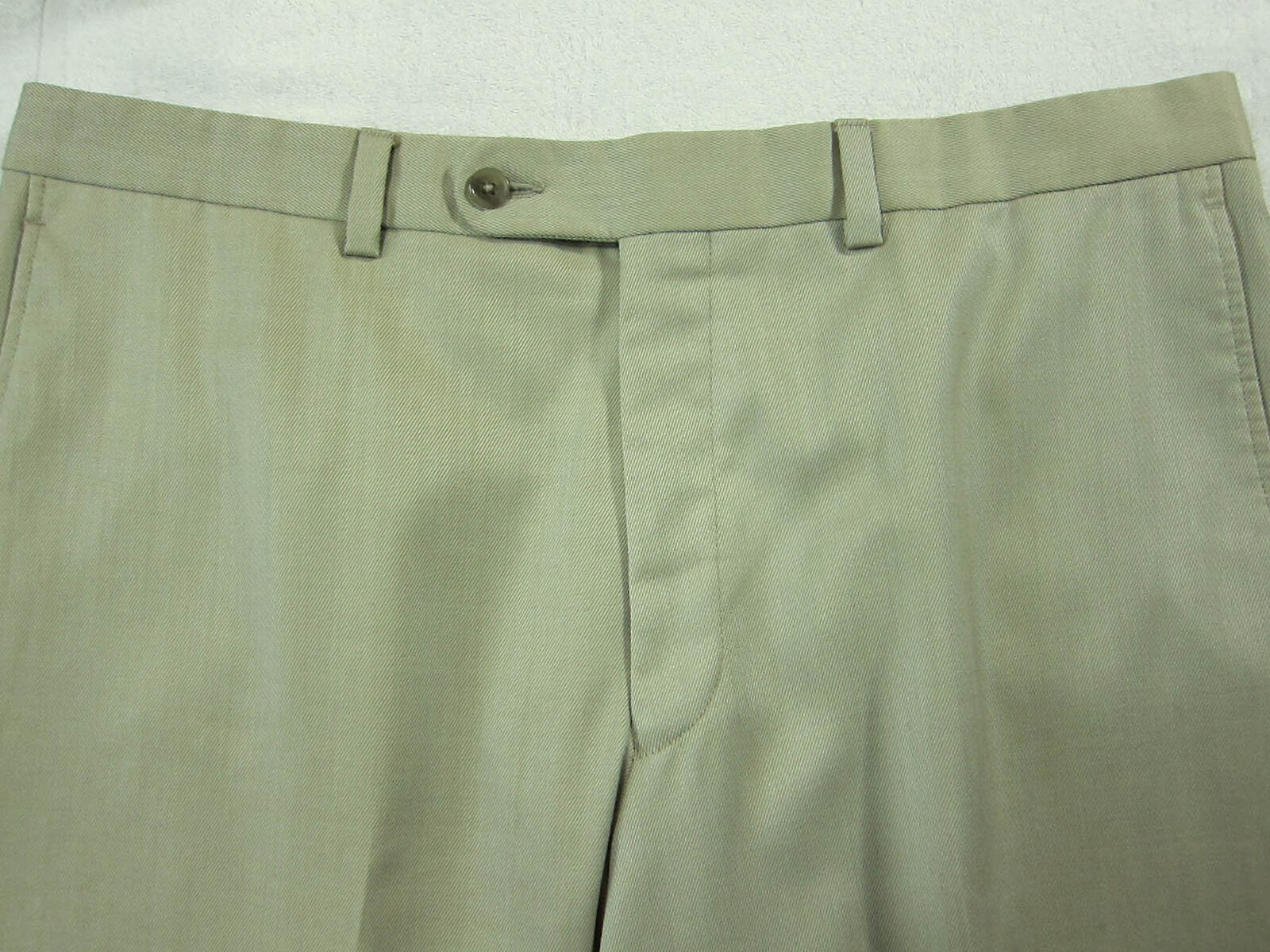 GORGEOUS Saks Fifth Ave Lgold Piana Super 120s Wool Flat Dress Pants Trousers 36W