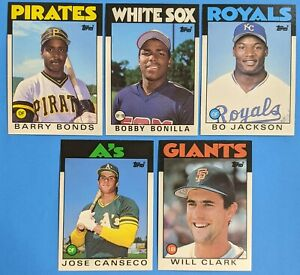 1986 Topps Traded - Lot of 5 Rookies - Grade Ready Condition!