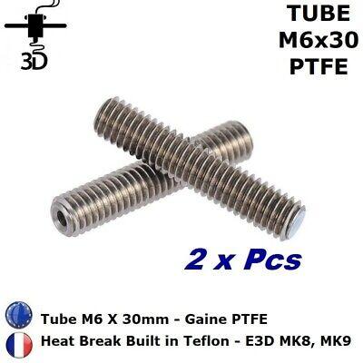 2x Tube M6 X 30mm Heat Break Ptfe 1.75mm Extrudeur Mk8,mk9 Imprimante 3d Printer Computers/tablets & Networking