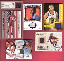 MICHAEL JORDAN STEPHEN CURRY LEBRON JAMES 5 JERSEY CARD KOBE BRYANT KEVIN DURANT