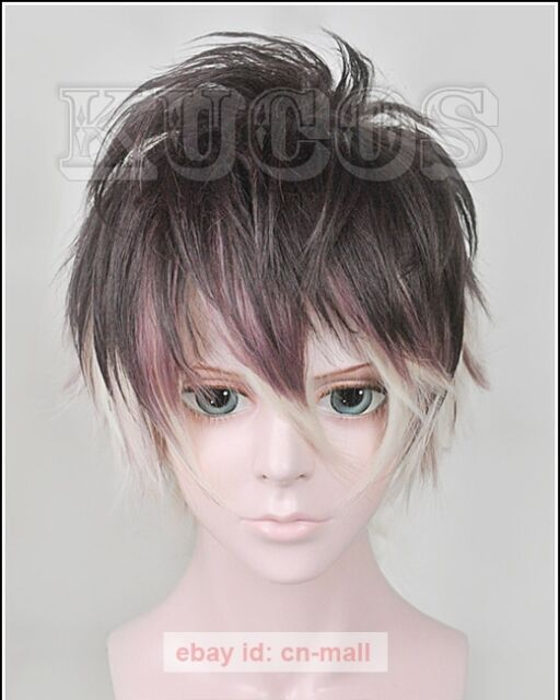 DIABOLIK LOVERS Mukami Ruki Short Cosplay Costume Wig +Free wig cap