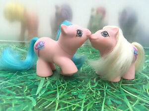 My-Little-Pony-G1-Newborn-Twins-Sticky-amp-Sniffles-Vintage-Toy-1987-Collectibles