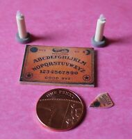 Dolls House Miniature- Ouija Board,Planchette,Candles-Additional Items P&P FREE