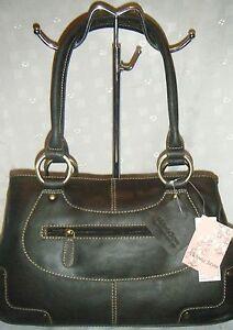 555eee7ba3 Image is loading Victoria-Jayne-ladies-brown-leather-zipped-tote-bnwt