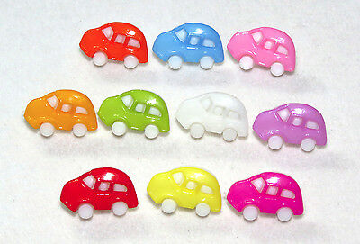 """Colorful Cars Beetle Novelty Buttons Sewing, Crafting Card Making Quilting 1/2"""""""