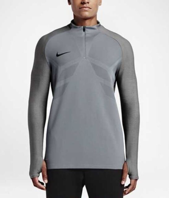 1d338f253 Men's Nike Strike Aeroswift 1/4 Zip Soccer Drill Top grey 807034 065 ...