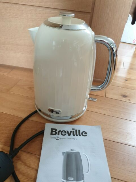 Breville Impressions Electric Kettle, 1.7 Litre, 3 KW Fast Boil, Cream [VKJ956]