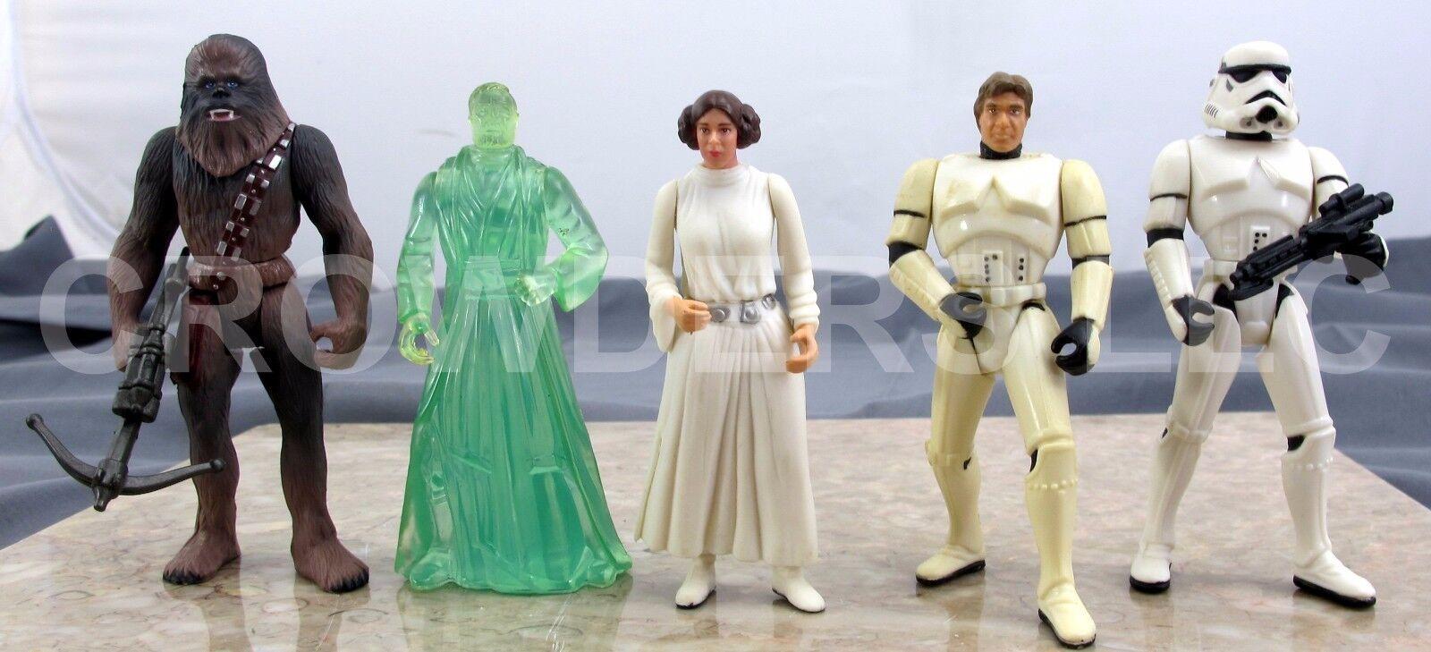 Star Wars PotF Stormtrooper Luke & Han Solo Chewbacca Princess Leia & Obi Kenobi