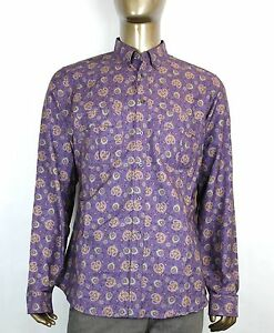 2e841ab2d653 $670 New Authentic Gucci Mens Peacock Floral Dress Shirt Slim Purple ...