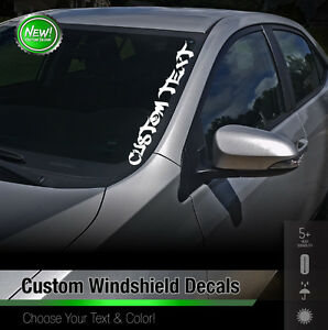 Custom Text Windshield Banner Car Sticker Vinyl Honda Acura JDM - Honda decal stickers for cars