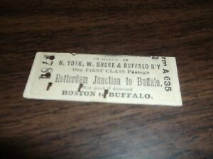 NEW-YORK-WEST-SHORE-AND-BUFFALO-TICKET-ROTTERDAM-JUNCTION-TO-BUFFALO