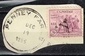 US working people Ethnicity stamp 1933 Postmark
