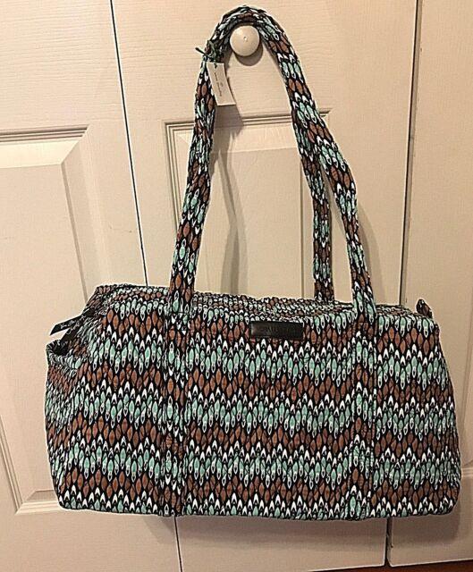 d067ff97c5 Vera Bradley Small Duffel Sierra Stream Bag Weekender Luggage Cotton ...