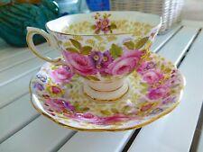"Vintage Royal Albert Bone China ""Serena"" Roses Tea Cup and Saucer Set ENGLAND"