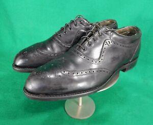 vintage-FootJoy-wingtip-black-leather-golf-shoes-10-5-C-63657A