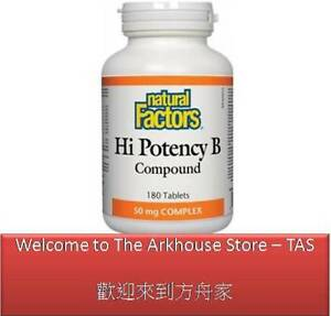 180-T-Hi-Potency-B-Complex-50-mg-complex-Natural-Factors