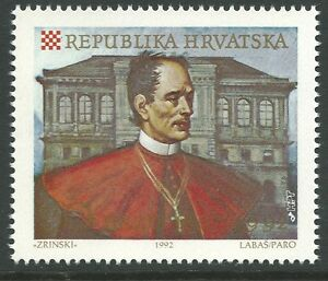 Croatia-1992-Academy-of-Arts-amp-Sciences-Bishop-Josip-Strossmayer-Sc-127-MNH