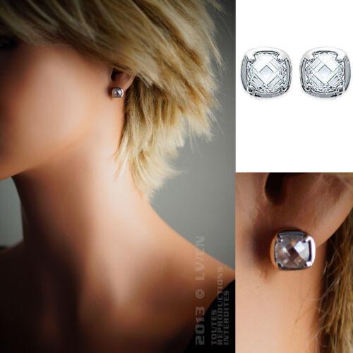 BOUCLES d/'oreilles en ARGENT 925//000 et Oxyde Zirconium Neuves