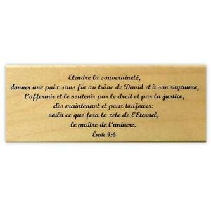 Image Is Loading Isaiah 9 6 French Mounted Rubber Stamp Religious