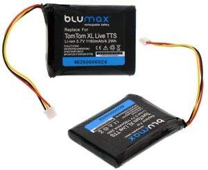 Blumax Power Akku für TomTom One T Europe Batterie Battery Accu Neu