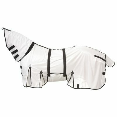TOUGH-1 LIGHT WEIGHT PROTECTIVE HORSE FLY SCRIM SHEET WHITE W// BLAC C-0-81 81in