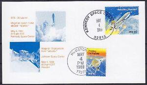 Stati-Uniti-spaziale-STS-30-Launch-carta-speciale-GEST-Kennedy-Space-Center-Houston-1989