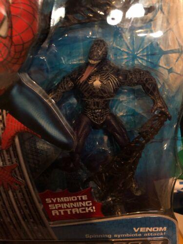 SPIDER-MAN 3 Venom Action Figure Spinning Symbiote ATTACK