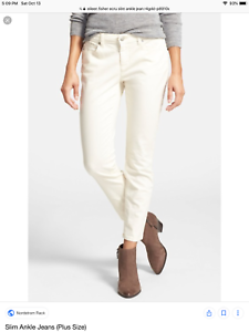 Eileen Fisher Stretch Slim Ankle Jeans Size 24W (Retail  198) NWT