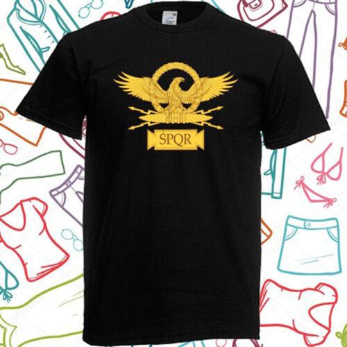 New SPQR Roman Eagle The Roman Empire Men/'s Black T-Shirt Size S M L XL 2XL 3XL