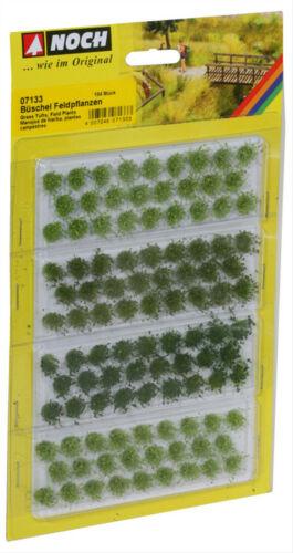 und dunkelgrün veredelt 6mm Noch 07133 HO Grasbüschel Feldpflanzen hell-mittel