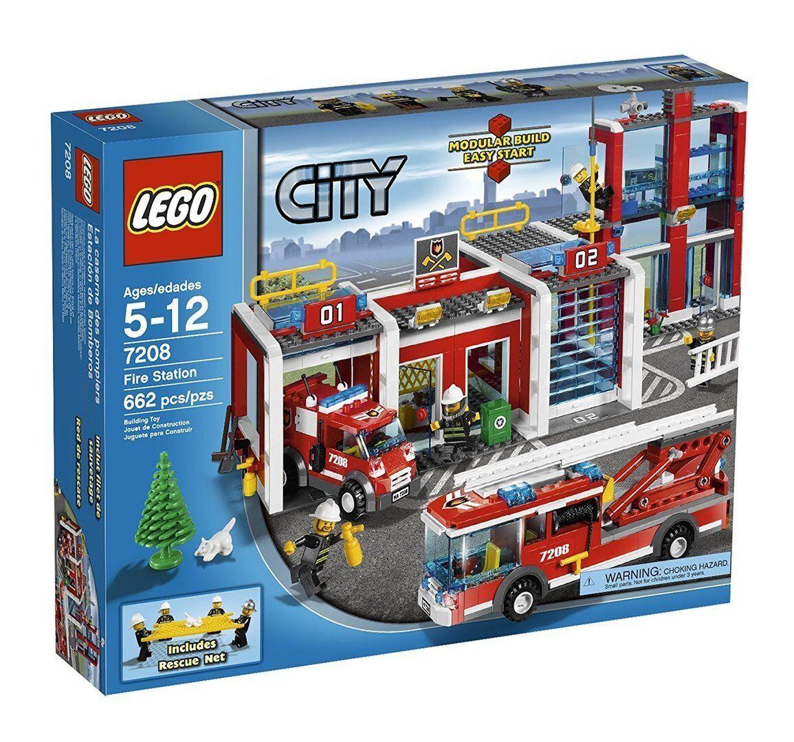 Le père Noël est avec vous tous les jours. jours. jours. Lego 7208 City - Parque de Bomberos | Apparence Attrayante  d57054