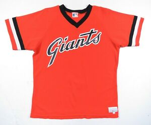 Vintage-80s-San-Francisco-Giants-Medalist-Sand-Knit-MLB-Baseball-USA-Jersey-L