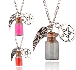 Halskette Supernatural Pistolen AnhÄnger Pentagramm Salz Silber Viele Farben Neu Fein Verarbeitet Halsketten & Anhänger