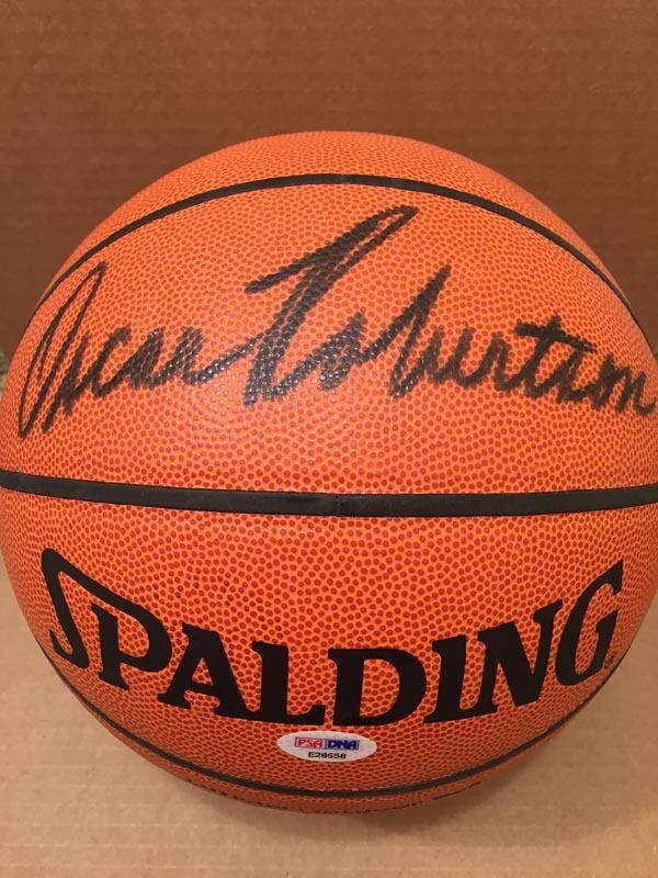 Oscar Robertson firmado Spalding NBA Baloncesto deseado Full Signature Psa dna