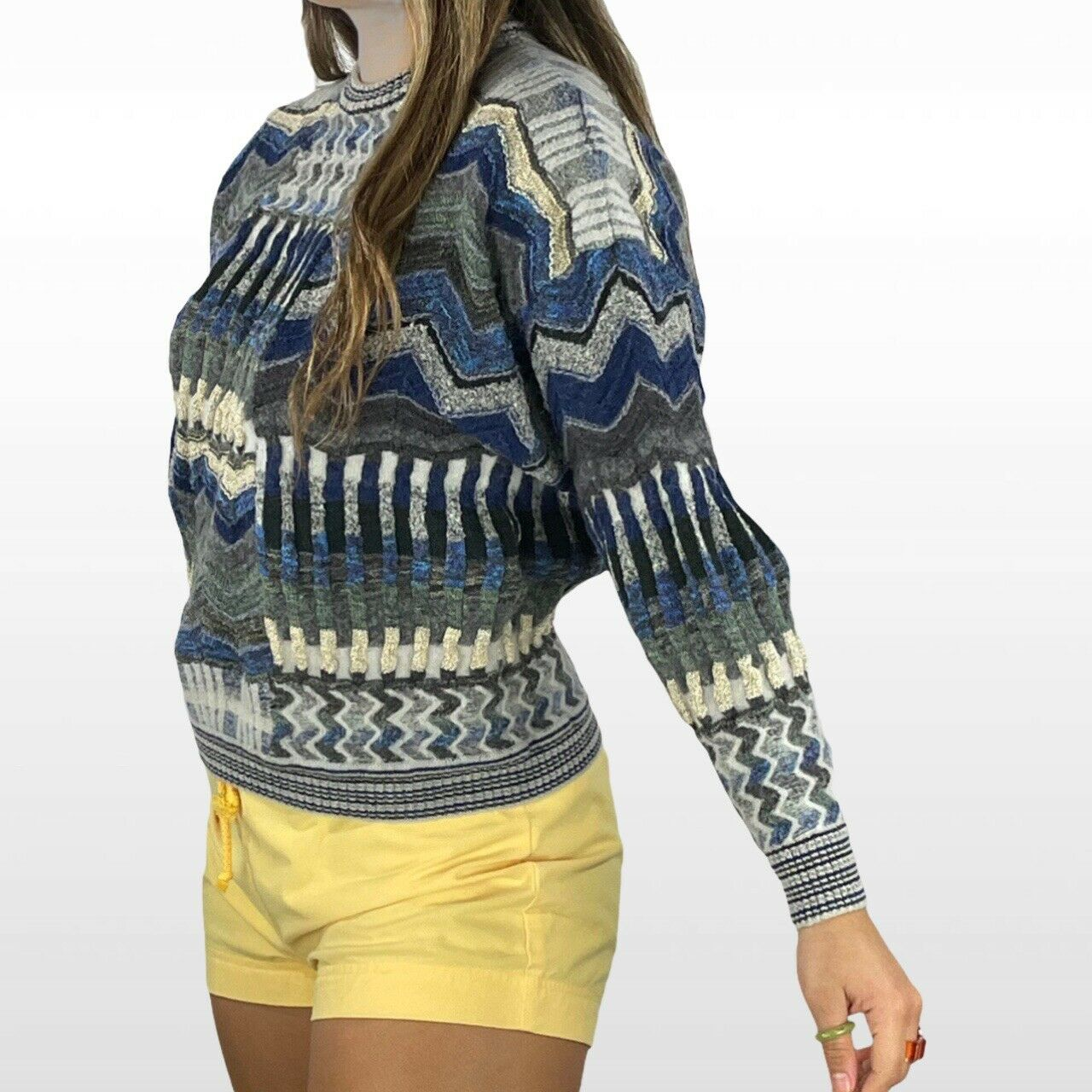 Abstract textured knit sweater - image 3
