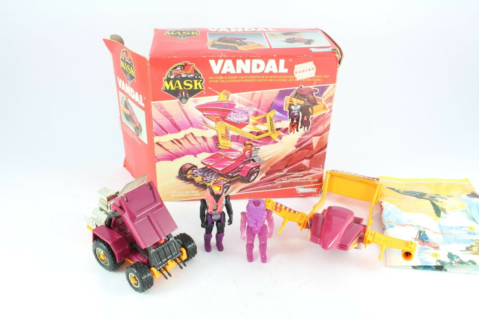 1986 Kenner M.A.S.K. Mask Vandal Floyd Malloy Complete Boxed Fantastic Condition