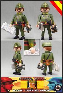 Playmobil-Custom-GENERAL-FRANCISCO-FRANCO-Guerra-Civil-War-SOLDADO-EJERCITO-WW2
