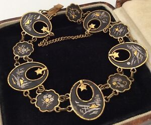 Vintage-Jewellery-Wonderful-Japanese-Enamel-Bracelet-With-Stars