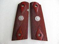Hardwood Grip For Colt Government 1911 Full Size Kimber Diamond Checkering
