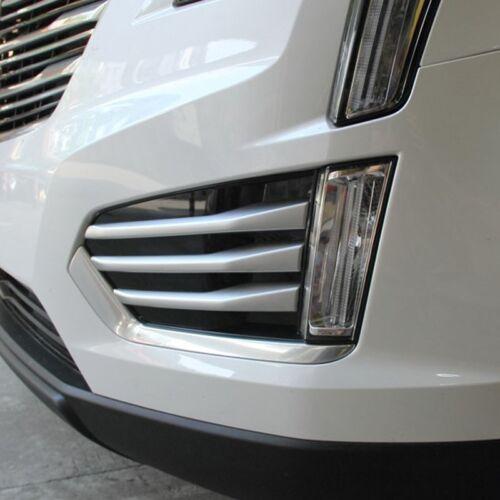 6 PCS ABS Chrome Trim Front Fog Light Lamp For Cadillac XT5 2016-2017