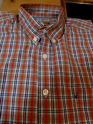 Deer Island Herrenhemd Oberhemd Freizeithemd 37/38 Kariert Baumwolle Button Down
