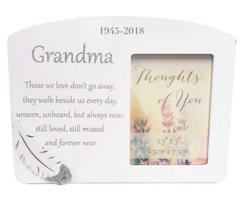 Personalised Memorial Gift Plaque Photo Frame Grandma Remembrance Sympathy Gran