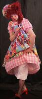 Pantomime Dame /widow Twanky Fancy Dress Costume Pink Size L-xxxxl Stage Show