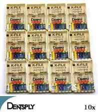 Dentsply Maillefer K-File Endodontic Dental Files 10 Packs 15-40
