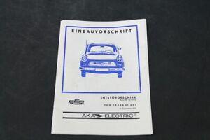 Age-Print-Trabant-601-Einbauvorschrift-Entstorgeschirr-Manual-Collector