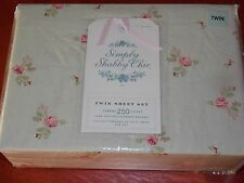 Rachel Ashwell Simply Shabby Chic Twin Sheet Set Rose Buds Brand New Package